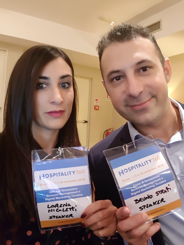bruno strati e lorena nicoletti speaker al corso revenue management alberghiero hospitality360
